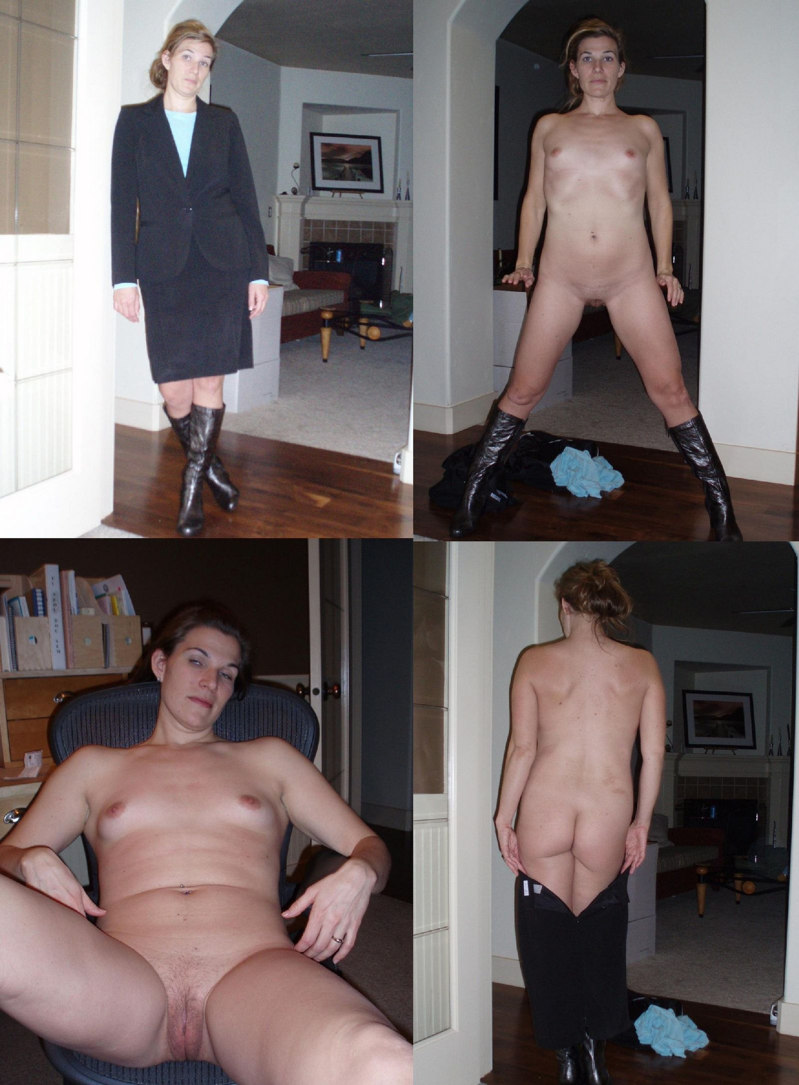 Фото сравнения одетых и раздетых женщин